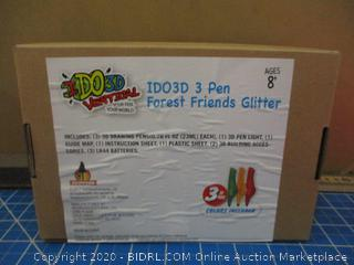 IDO3D Vertical 3-3D Pens Factory Sealed Forest Friends Glitter