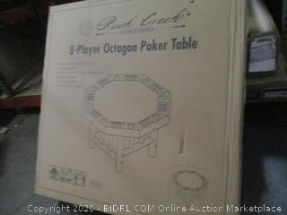 Rush Creek 8-Player Octagon Poker Table