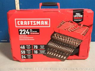 Craftsman 224 piece mechanic's tool set(Factory Sealed) COME PREVIEW!!!!! (online $258)