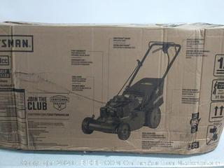 Craftsman M215 159cc 21-Inch 3-in-1 High-Wheeled FWD Self-Propelled Gas Powered Lawn Mower with Bagger (online $292) Brand New