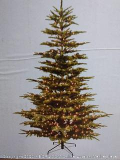 7.5 Foot Pre-Lit Aspen Fir Artificial Christmas Tree with 700 UL Listed Clear Lights Green (online $232)