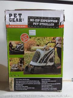 Pet Gear NO-Zip Stroller, Push Button Zipperless Dual Entry, for Single or Multiple Dogs/Cats, Pet Can Easily Walk in/Out, No Need to Lift Pet (online $192)