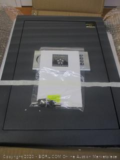 Electronic Wall Safe With Keys and Keypad