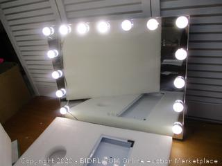 FENCHILIN Large Vanity Mirror with Lights, Hollywood Lighted Makeup Mirror with 14 Dimmable LED Bulbs
