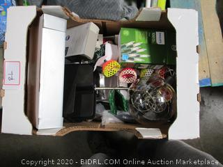 Misc. Box Lot: Lamp, Star, Lights, etc.