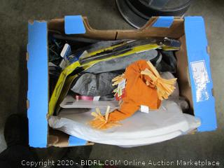 Misc. Box Lot: Toilet Seat, Windshield Wiper, Pencil Sharpener