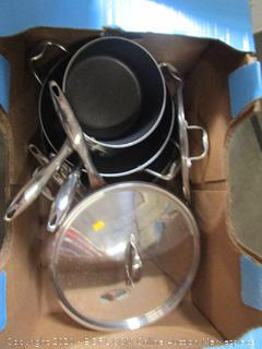 Lot Pots, Pans and Glass Lids