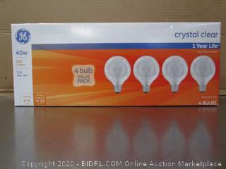 GE 4 Bulb Crystal Clear