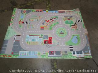 Race Car Track Rug