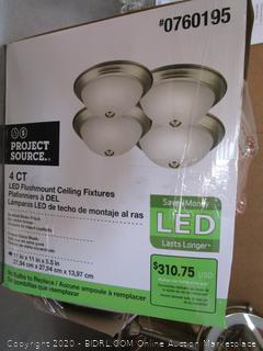 Project Source LED Flushmount Ceiling Fixture