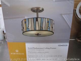 Portfolio Semi-Flushmount Ceiling Fixture