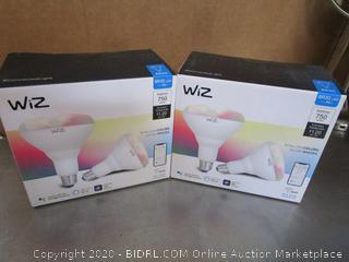 WiZ BR30 LED Smart Wifi Light Bulbs