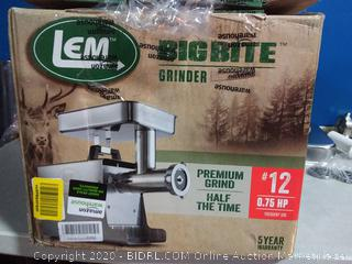 LEM Products 17801 Stainless Steel Big Bite Electric Meat Grinder(powers on) online $399