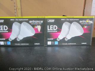 Feit LED Dimmable BR40 Flood Light Bulbs Enhance 11.8W/75W Replacement