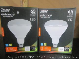 Feit LED Enhance BR40 Flood Light Bulbs Enhance 9.4W/65W Replacement