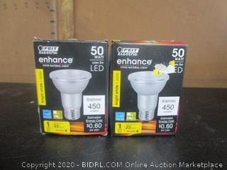 Feit Electric 5W/50W LED Bright White PAR20 Light Bulbs