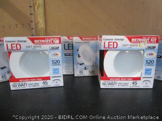"Feit Electric LED Dimmable Soft White 520-Lumen Retrofit 4"" Kits"