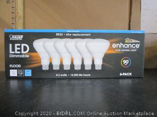 Feit Electric LED Enhance BR30 Flood Light Bulbs 750-Lumens Daylight