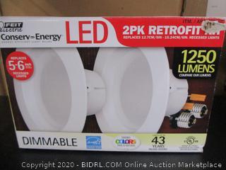 "Feit Conserv-Energy 1250 Lumens Dimmable 6"" Recessed Lights Retrofit Kit 2pk"