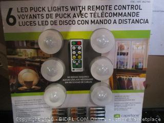 Capstone LED Remote Control LED Puck Lights