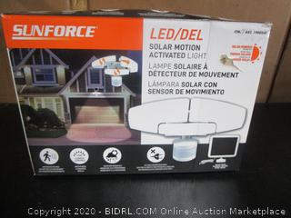 Sunforce LED Solar Motion Activated Light (retail $40)