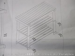 2-Tier Bamboo Shoe Bench
