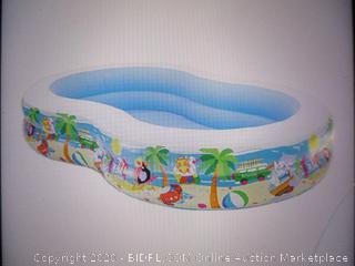 Intex - Swim Center Paradise Inflatable Pool, 103in X 63in X 18in