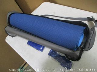 FrenzyBird - 25in wide Yoga/Fitness Mat wtih Zippered Carry Bag