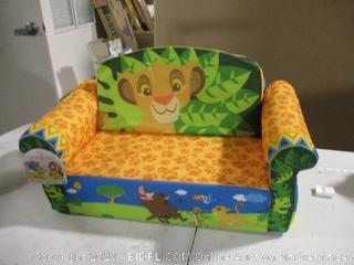 Marshmellow Furniture-Disney The Lion King- Childrens 2 in 1 Flip Open Sofa