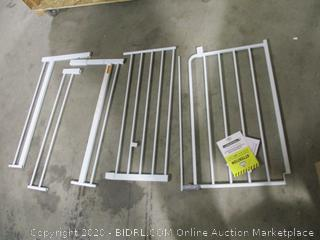 """Regalo- Metal Walk Through Safety Gate- White ( 29"""" to 47"""" W  30"""" H)"""