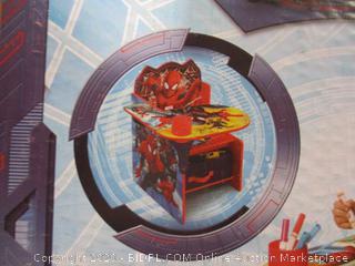 Delta Children- Marvel Ultimate Spiderman- Chair Desk w/ Storage Bin (one piece cracked)