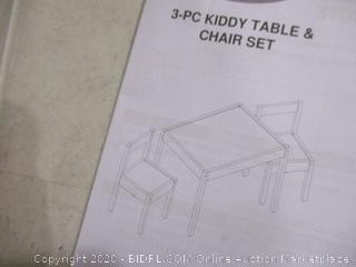 3-PC Kiddy Table & Chair Set (1 Piece Chipped)