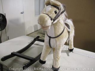 Happy Trails- Plush Rocking Horse