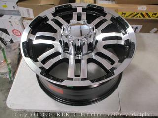 """VISION OFF-ROAD - 375 WARRIOR Gloss Black with Machined Face and Lip (20"""" x 9"""", 0 Offset, 8x170 Bolt Pattern, 125.2mm Hub) $220 Retail"""