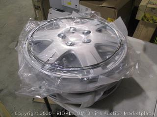 BDK - KT Plastic Silver Colored Hubcaps - 15 inch Diameter - Set of 4