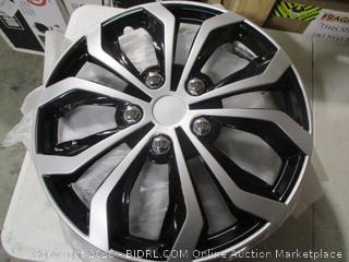 Pilot Automotive WH553-16S-BS Spyder/Black & Silver 16 Inch hub Cap, 4 Pack