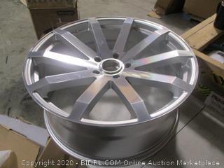 "BLACK RHINO - TRAVERSE Silver with Mirror Cut Face (24"" x 10"", +25 Offset, 5x139.7 Bolt Pattern, 78.1mm Hub) $475 Retail"