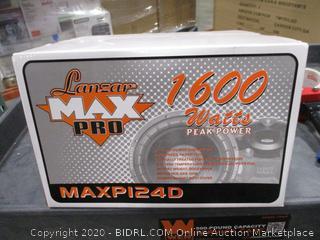 Lanzar - MAXP124D Max Pro 12'' 1600 Watt Small Enclosure Dual 4 Ohm Subwoofer