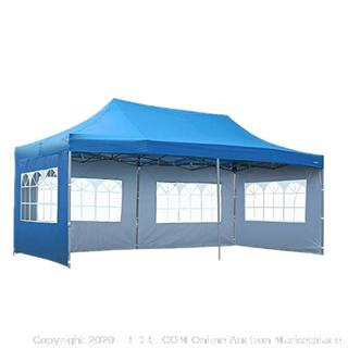 Pop Up 10'x20' Canopy Tent with Sidewall 6 PCS - Folding Commercial Gazebo Party Tent (online $219)