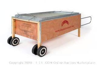 CAJA CHINA ROASTING BOX LA CAJA ASADORA PIG ROASTER (online $329) one piece broken. easy fix