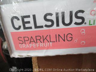 CELSIUS Sparkling Grapefruit Fitness Drink 12oz 24 Pack (Retail $65)