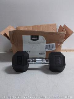 AmazonBasics Rubber Encased Hex Dumbbell