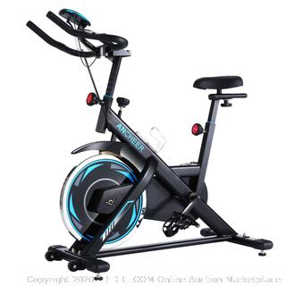 ancheer indoor cycling bike stationary belt drive exercise bike with comfortable seat cushion workout bike with Magnetic resistance in LCD monitor for home exercise (online $329)