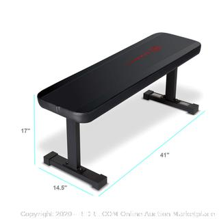 Marcy Flat Utility 600 lbs Capacity Weight Bench for Weight Training and Ab Exercises SB-315 (online $52)