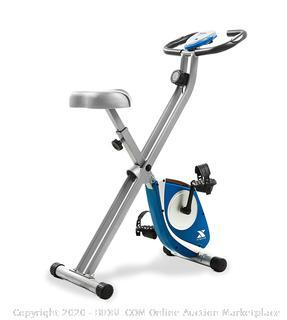 XTERRA Fitness FB150 Folding Exercise Bike, Silver (online $99)