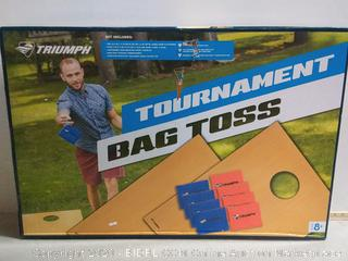 Triumph Tournament Bean Bag Toss Game with 2 Easy Transport Game Platforms with Scratch Resistant Surface, Convenient Carry Handle and 8 Toss Bags (online $65)