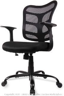 Smugdesk Ergonomic mesh computer chair black(Factory Sealed)COME PREVIEW!!!!! (online $90)