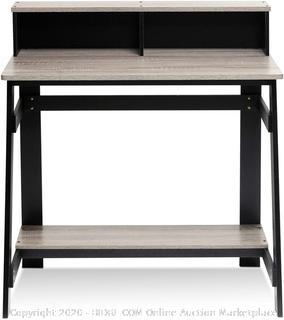 Furinno 14054BK/GYW Simplistic a Frame Computer Desk, Black/Oak Grey(Factory Sealed) COME PREVIEW!!!!!