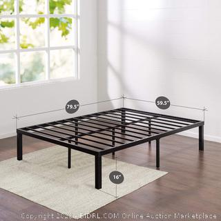Zinus Luis Quick Lock 16 Inch Metal Platform Bed Frame / Mattress Foundation / No Box Spring Needed, Queen(Factory Sealed) COME PREVIEW!!!!! (online $90)