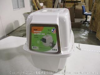 Vanness - Large Enclosed Cat Litter Pan w/ Odor Door